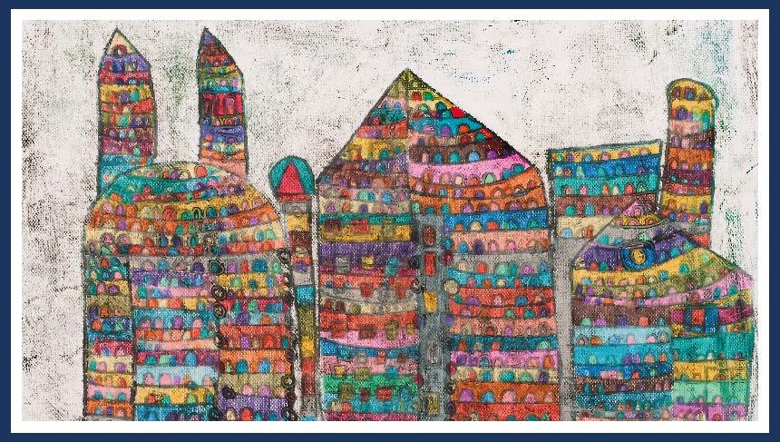 """Hundertwasserhaus"", Ingrid Kowatschitsch Atelier de La Tour, Treffen"
