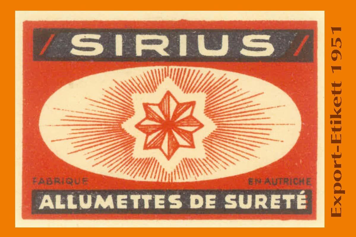 Export-Etikett 1951